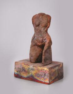 Palkó Ernő • TORSO 2 • chamotte clay, raku • 27×17×35 cm