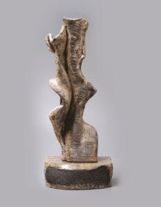 Palkó Ernő • SYMBIOSIS • chamotte clay, raku • 21×18×54 cm
