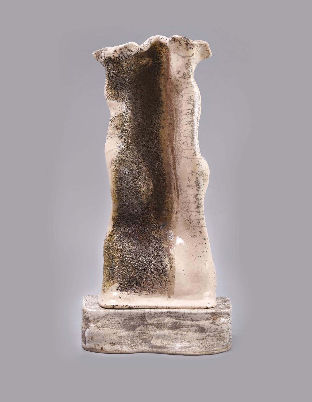 Palkó Ernő • SYMBIOSIS • chamotte clay, raku • 30×14×62 cm