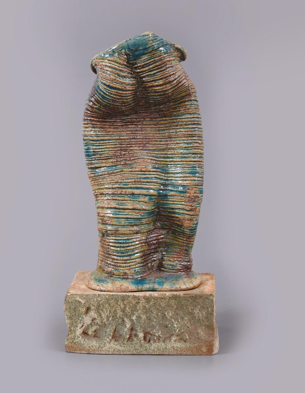 Palkó Ernő • SYMBIOSIS • porcelain, chamotte clay, raku • 24×14×40 cm