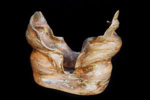 Palkó Ernő • Archaic Couple 2 • chamotte clay, reduction 1320 °C • 48×59×32 cm