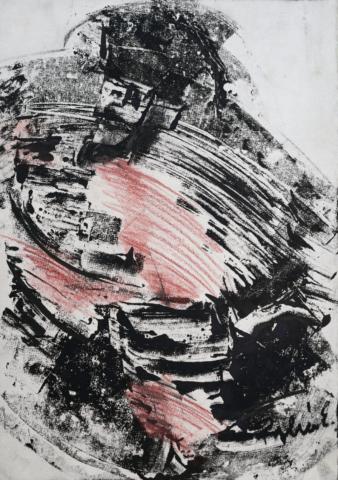 Palkó Ernő • Gallant • monotype • 50×70 cm