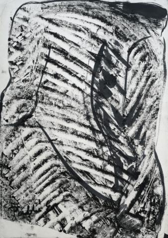 Palkó Ernő • Figure • monotype • 50×70 cm