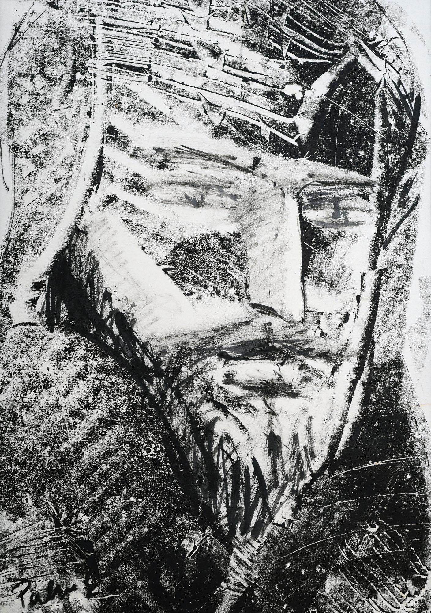 Palkó Ernő • Portrait • monotype • 50×70 cm