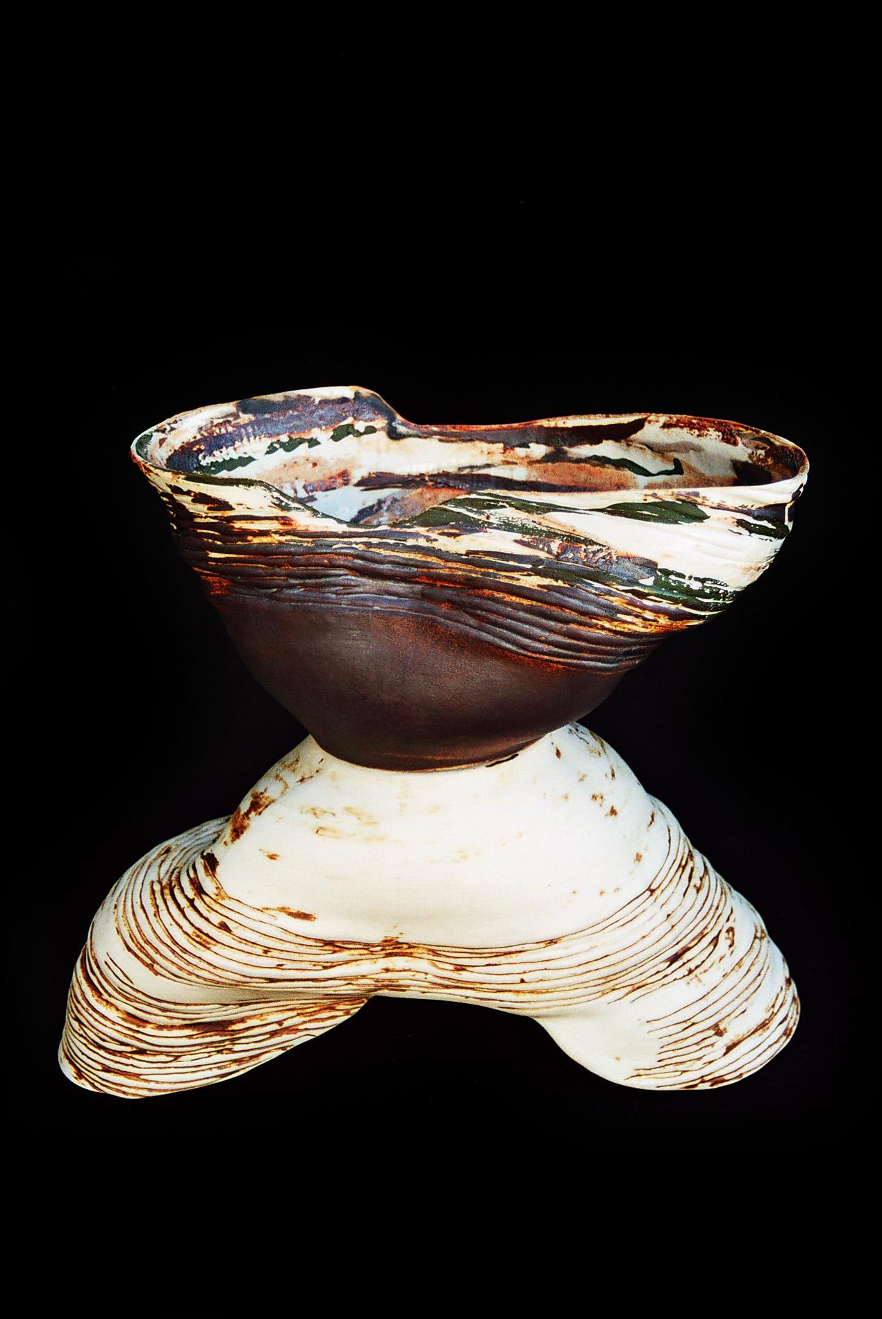 Grafiterra • coloured porcelain 1300 °C • 48×40×24 cm
