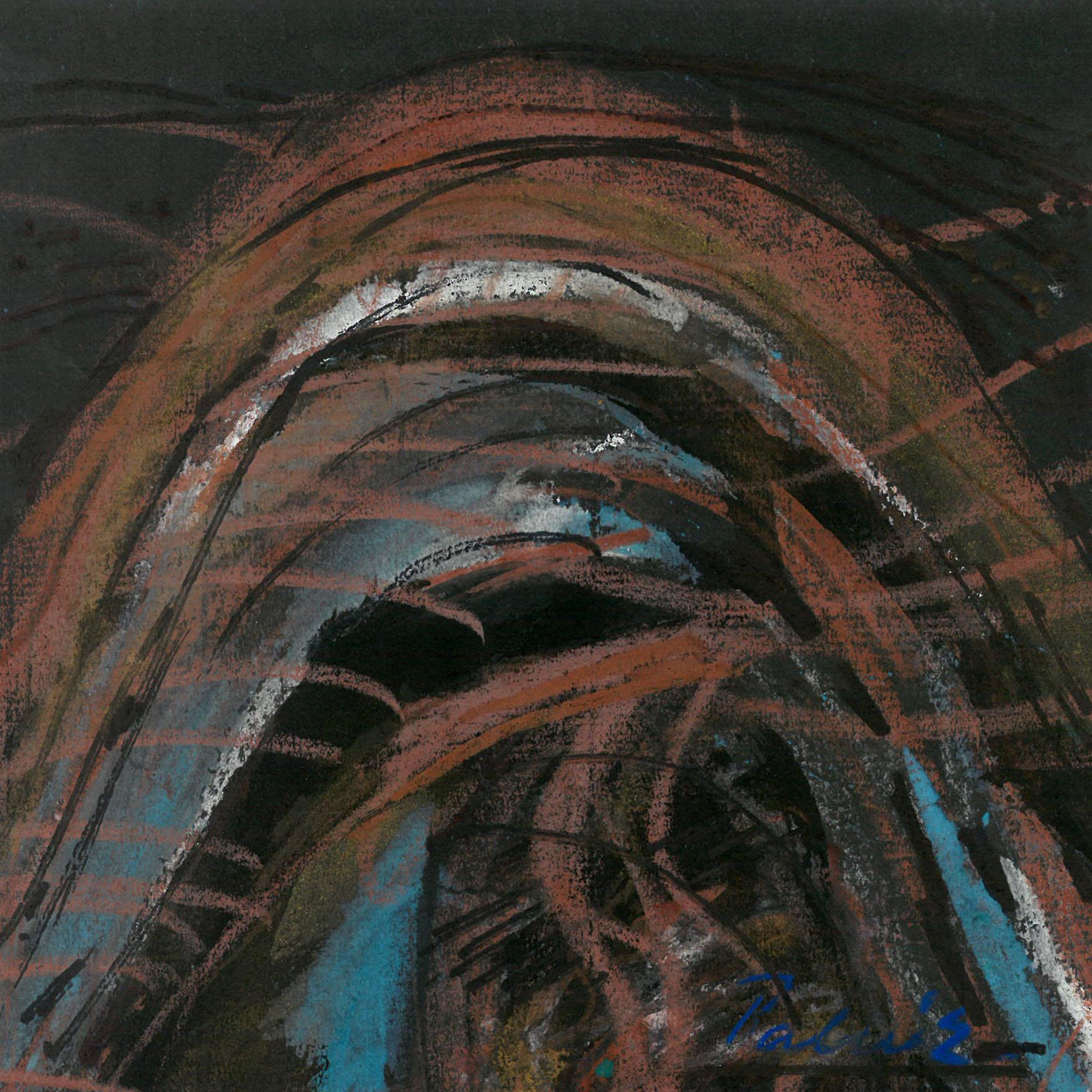 Palkó Ernő • Waving 3 • charcoal • 26×26 cm