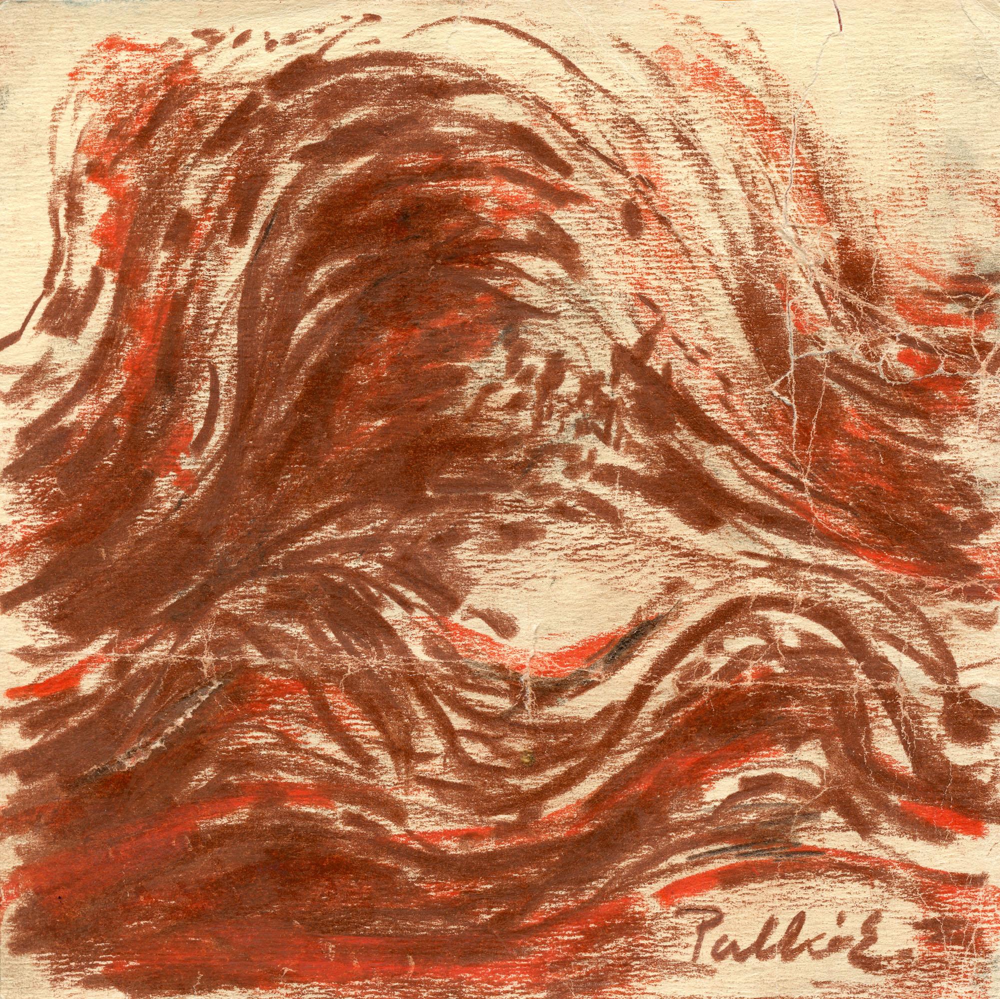 Palkó Ernő • Waving 2 • charcoal • 26×26 cm